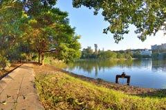 Lakeside dans la ville d'université Image libre de droits