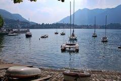 Lakeside di Lecco Fotografia Stock