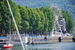 Lakeside di Lecco Fotografie Stock Libere da Diritti