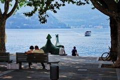 Lakeside di Lecco Fotografie Stock