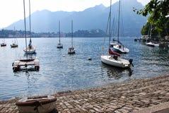 Lakeside di Lecco Immagine Stock