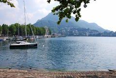 Lakeside di Lecco Fotografia Stock Libera da Diritti