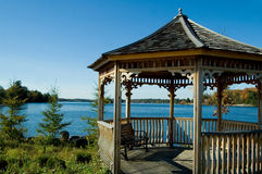 Lakeside Gazebo Stock Photography