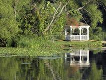 Lakeside Gazebo Royalty Free Stock Photo
