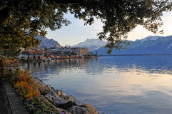Lakeside of Geneva lake Royalty Free Stock Image