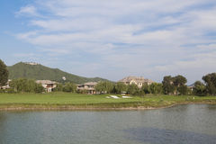 Lakeside Golf Course Stock Image