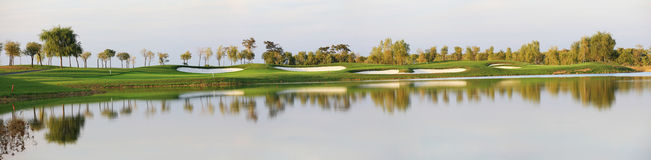 Lakeside Golf Course Royalty Free Stock Image