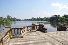 Lakeside. Hever castle garden, Kent, England Stock Photo