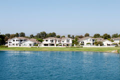 Lakeside Homes Royalty Free Stock Photography