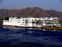 Lakeside Hotel. A huge lakeside hotel in India Royalty Free Stock Photography
