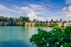 Lakeside hotel Royalty Free Stock Photo