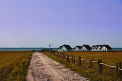 Lakeside houses Royalty Free Stock Images