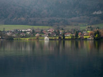 Lakeside houses Royalty Free Stock Image