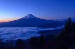 Lakeside of Kawaguchi and Mt.Fuji at dawn. Lake Kawaguchi is one of the Fuji Five Lakes. The best views of Mount Fuji can be enjoyed from the lake's northern stock photos