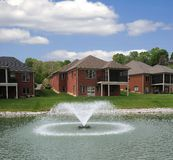 Lakeside Landominium Homes Stock Photo