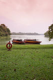 Lakeside landscape Stock Images