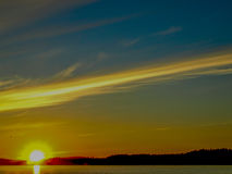 Lakeside landscape. At Jyvaskyla, Finland Royalty Free Stock Photos