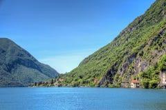 Lakeside landscape view Royalty Free Stock Photo