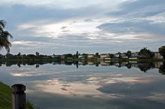 Lakeside Living. In Cutler Bay South Florida Royalty Free Stock Photo
