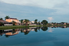Lakeside Living. In Cutler Bay South Florida Royalty Free Stock Image