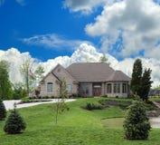 Lakeside Luxury Home Stock Image
