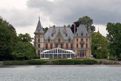 Lakeside mansion Stock Photo