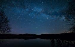 Lakeside Milky Way Royalty Free Stock Photography