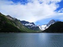 Lakeside mountain Stock Images