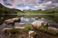 Lakeside mountains Royalty Free Stock Image