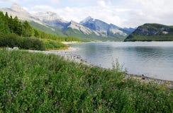 Lakeside mountains Stock Image