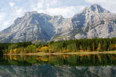 Lakeside mountains and forests Royalty Free Stock Image