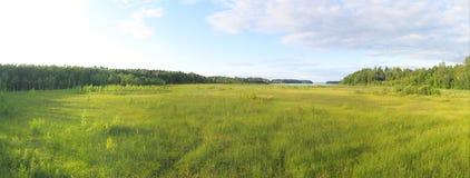 Lakeside panorama royalty free stock photo