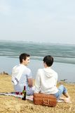 Lakeside picnic Royalty Free Stock Image