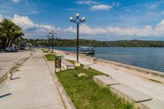 Lakeside promenade in Flores, Guatema. La royalty free stock photography