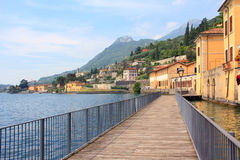 Lakeside promenade gargnano and garda lake Stock Photography