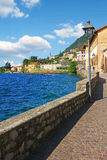 Lakeside promenade gargnano in summer, italy. Lakeside promenade gargnano in summer, garda lake italy royalty free stock image