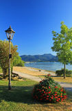 Lakeside promenade tegernsee, germany Stock Image