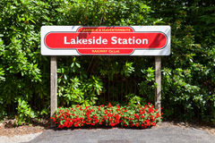 Lakeside Railway Station Stock Photography