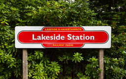 Lakeside Railway Station Royalty Free Stock Images