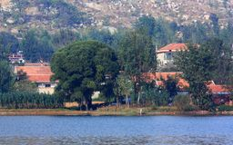 Lakeside residential Stock Photography