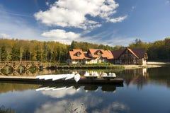 Lakeside resort Stock Photos