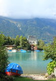 Lakeside resort town near Interlaken Stock Photography