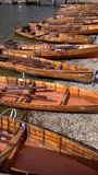 Lakeside rowing boats Royalty Free Stock Photo