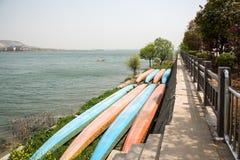 Lakeside Rowing Stock Photos