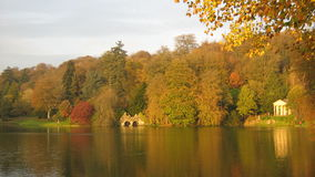 Lakeside scene in an evening in Autumn Royalty Free Stock Image