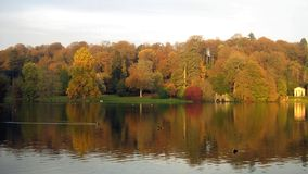 Lakeside scene in an evening in Autumn Royalty Free Stock Photo