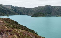 Lakeside scenery at the Azores Stock Photo