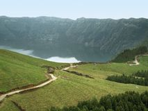 Lakeside scenery at the Azores Stock Photography