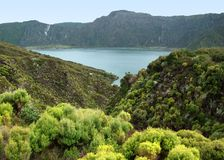 Lakeside scenery at the Azores Royalty Free Stock Photography