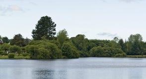 Lakeside scenery Royalty Free Stock Photo